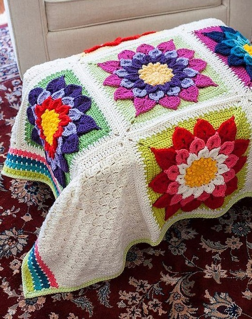 Eye Catching Design Ideas for Crochet Flowers