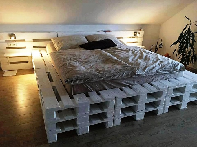 DIY Ideas for Wood Pallet Beds