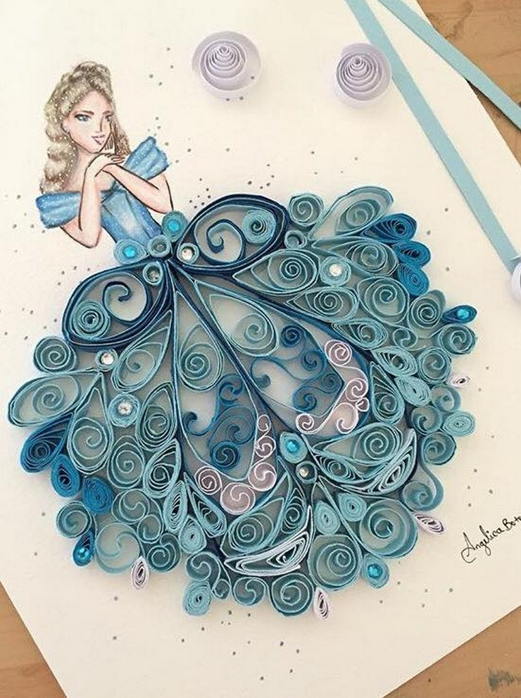 Ideas for Paper Quilling Art Designs by Angelica Botero