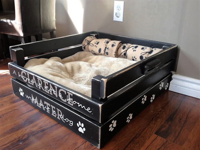 Wooden Pallet Dog Bed Idea 35 Diy Motive