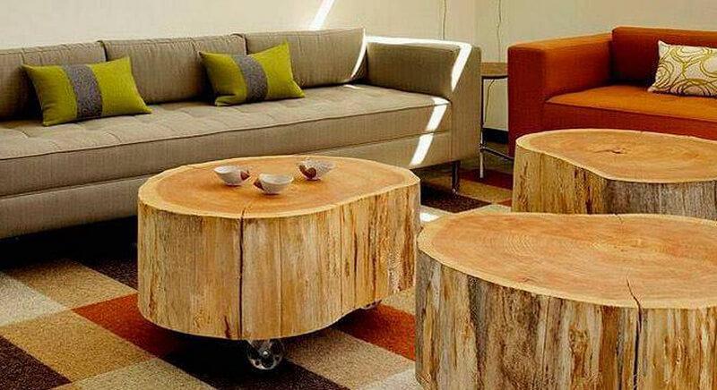 Creative Rustic Wood Logs Furniture Ideas | DIY Motive