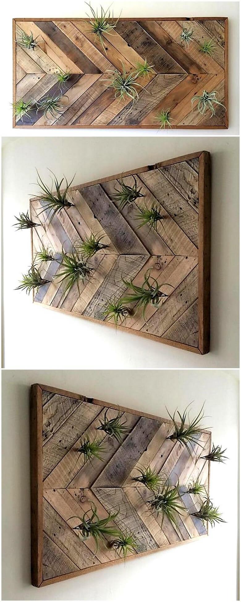 Wood Pallet Wall Decor Art Idea Diy Motive