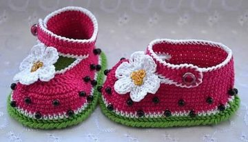 DIY Motive Ideas for Crochet Baby Booties