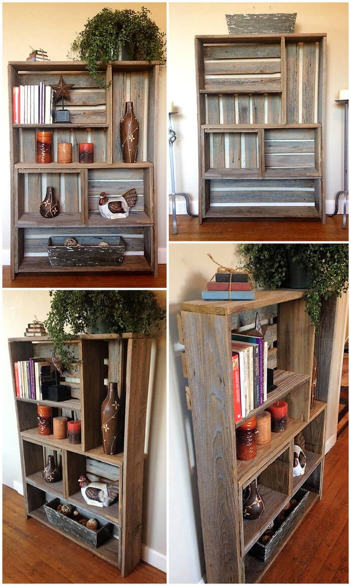 Wood Pallet Decor Shelf Art Diy Motive