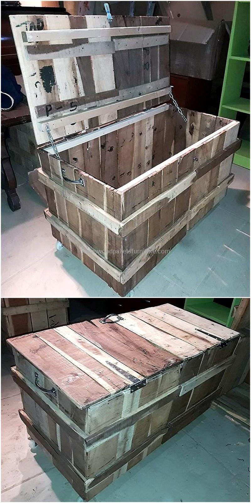Wood Pallet Chest (85)