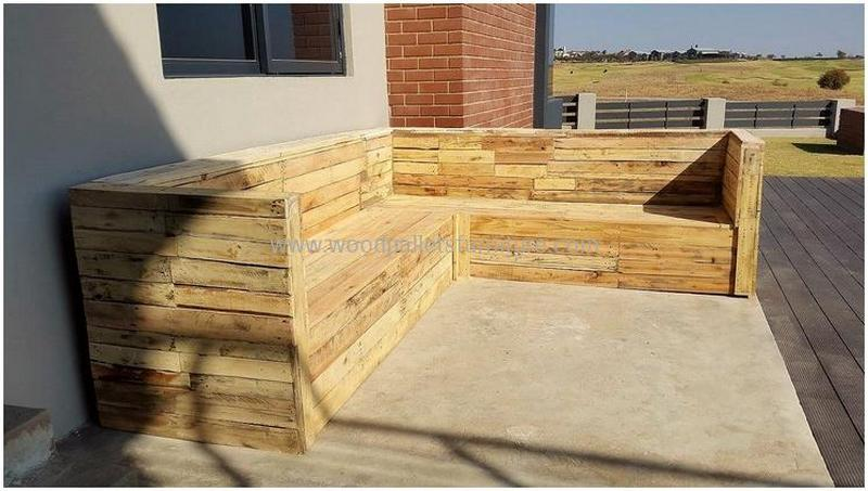 recycled pallet outdoor sofa and couch 87