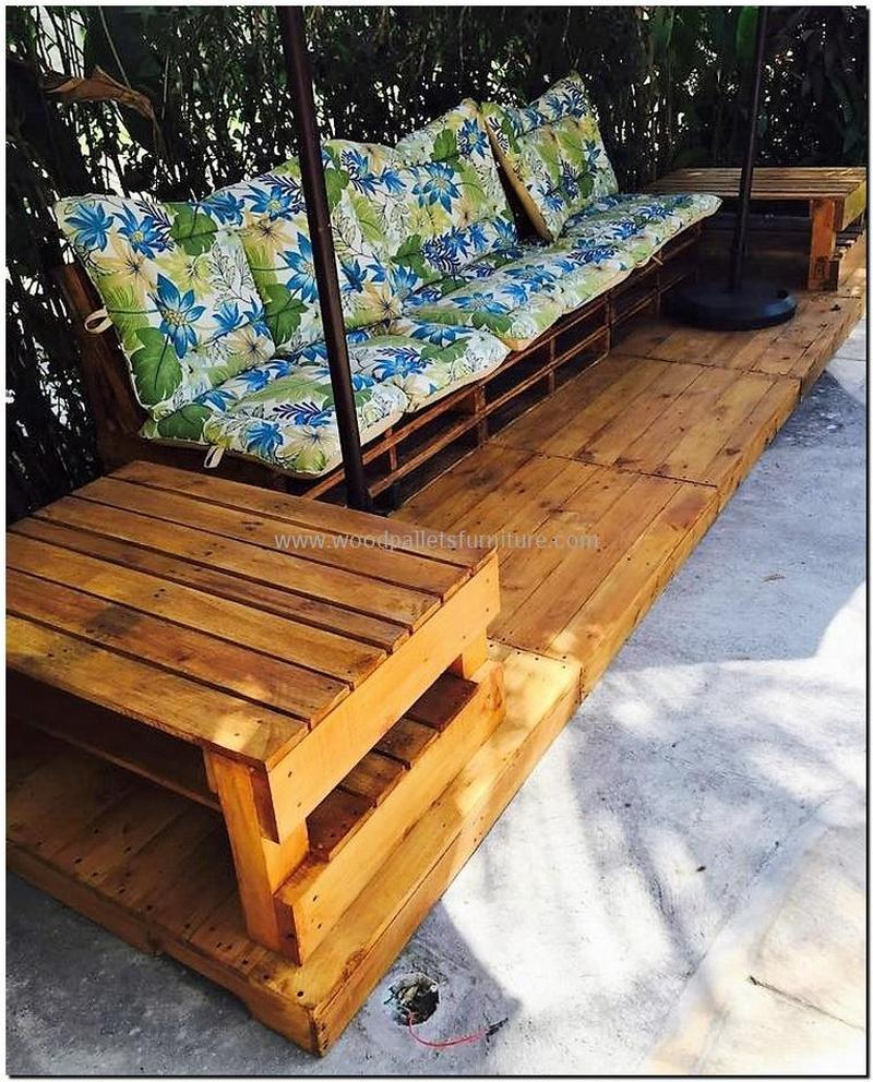 recycled pallet outdoor sofa and couch 89