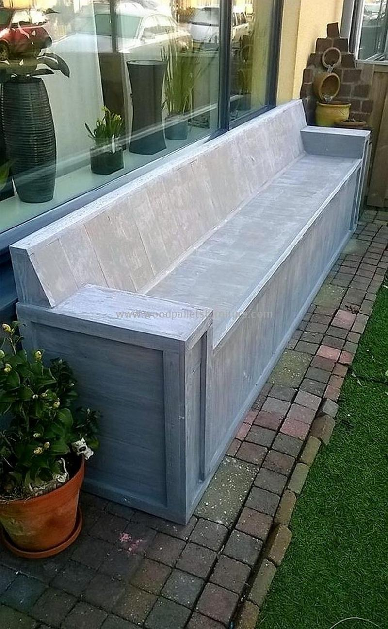 recycled pallet outdoor sofa and couch 91