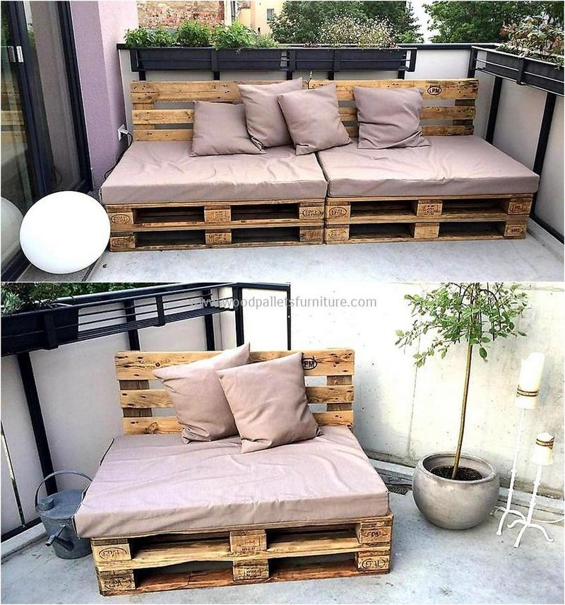 recycled pallet outdoor sofa and couch 92