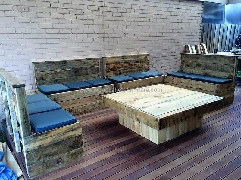 recycled pallet outdoor sofa and couch 93
