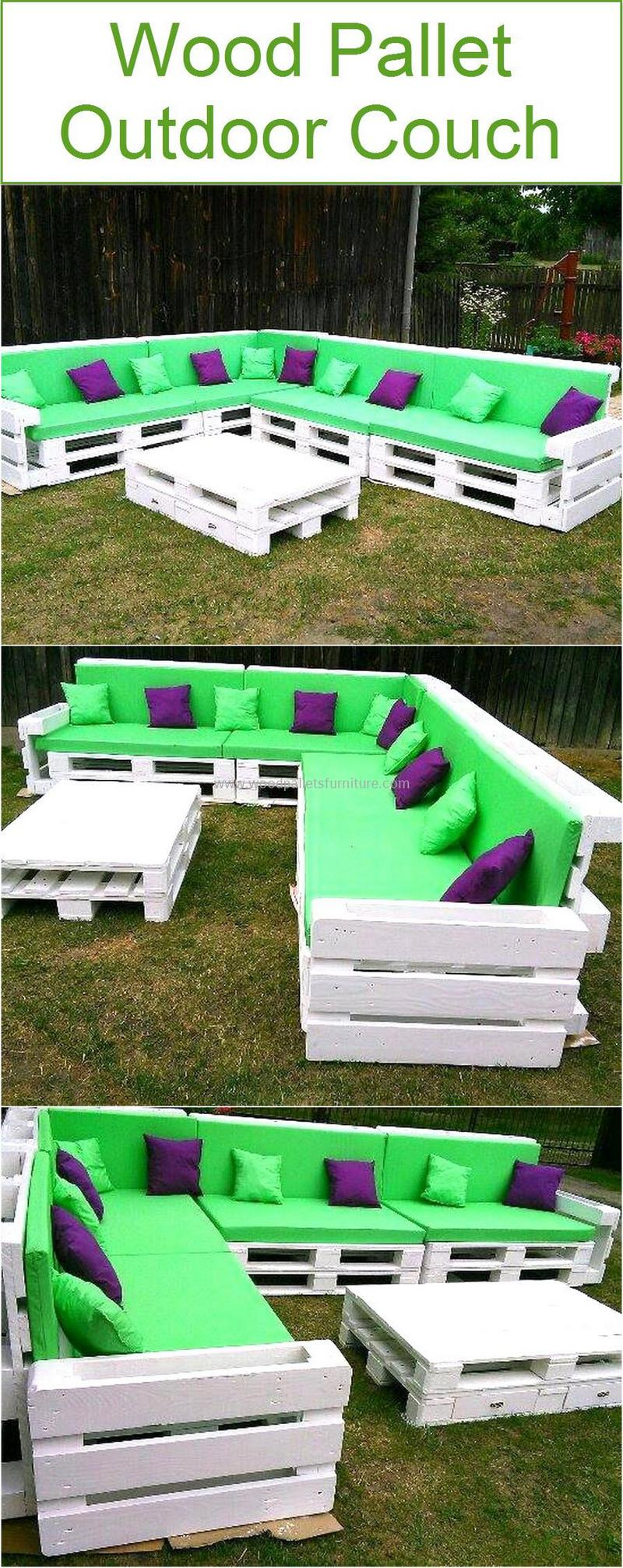 recycled pallet outdoor sofa and couch 95