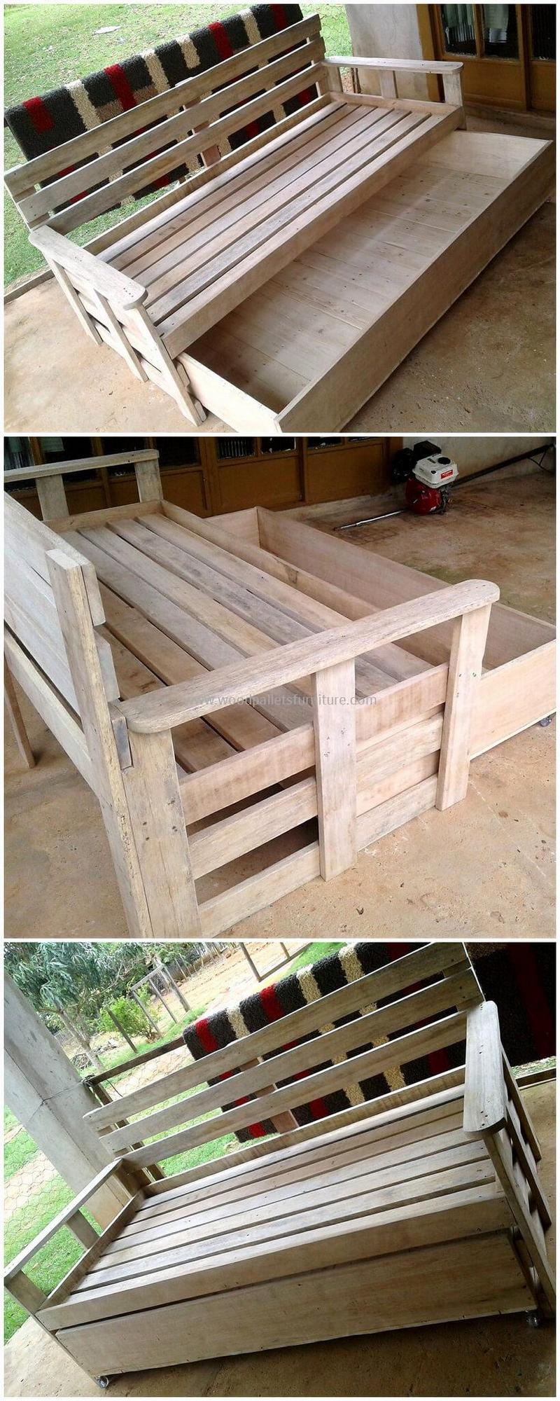 recycled pallet outdoor sofa and couch 97