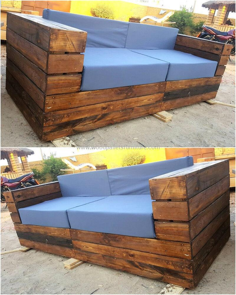 recycled pallet outdoor sofa and couch 99