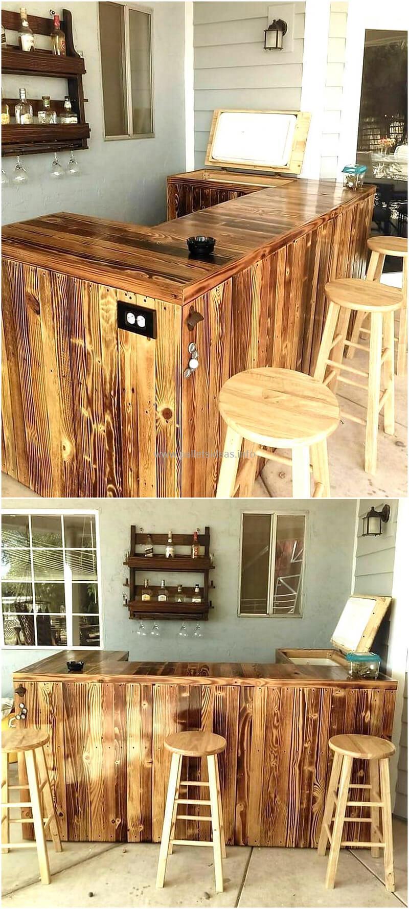 wood pallet bar plan 112
