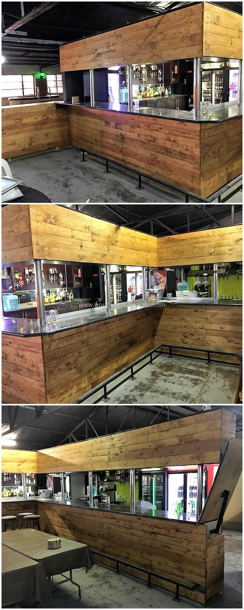 wood pallet bar plan 12
