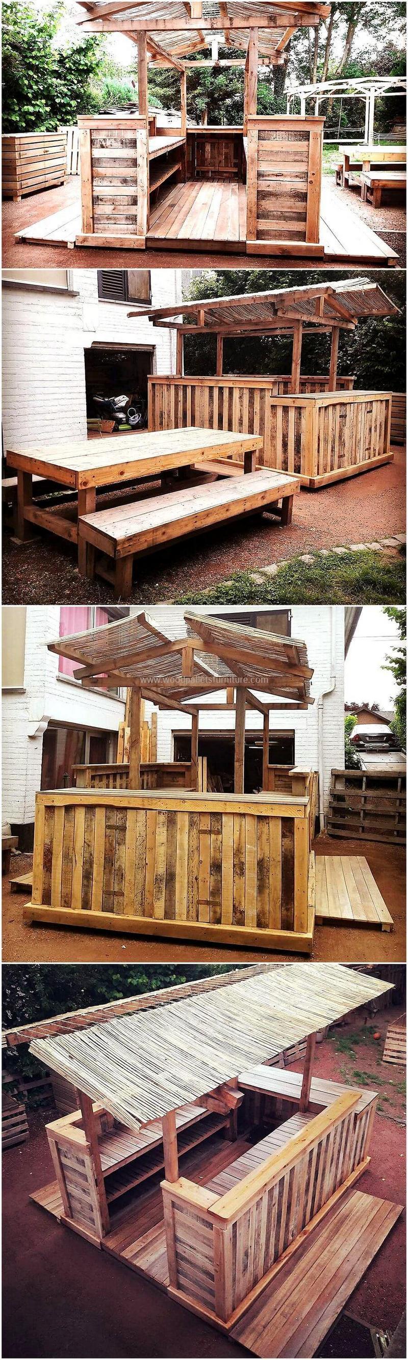 wood pallet bar plan 16