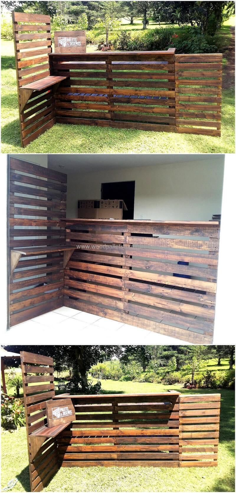 wood pallet bar plan 285
