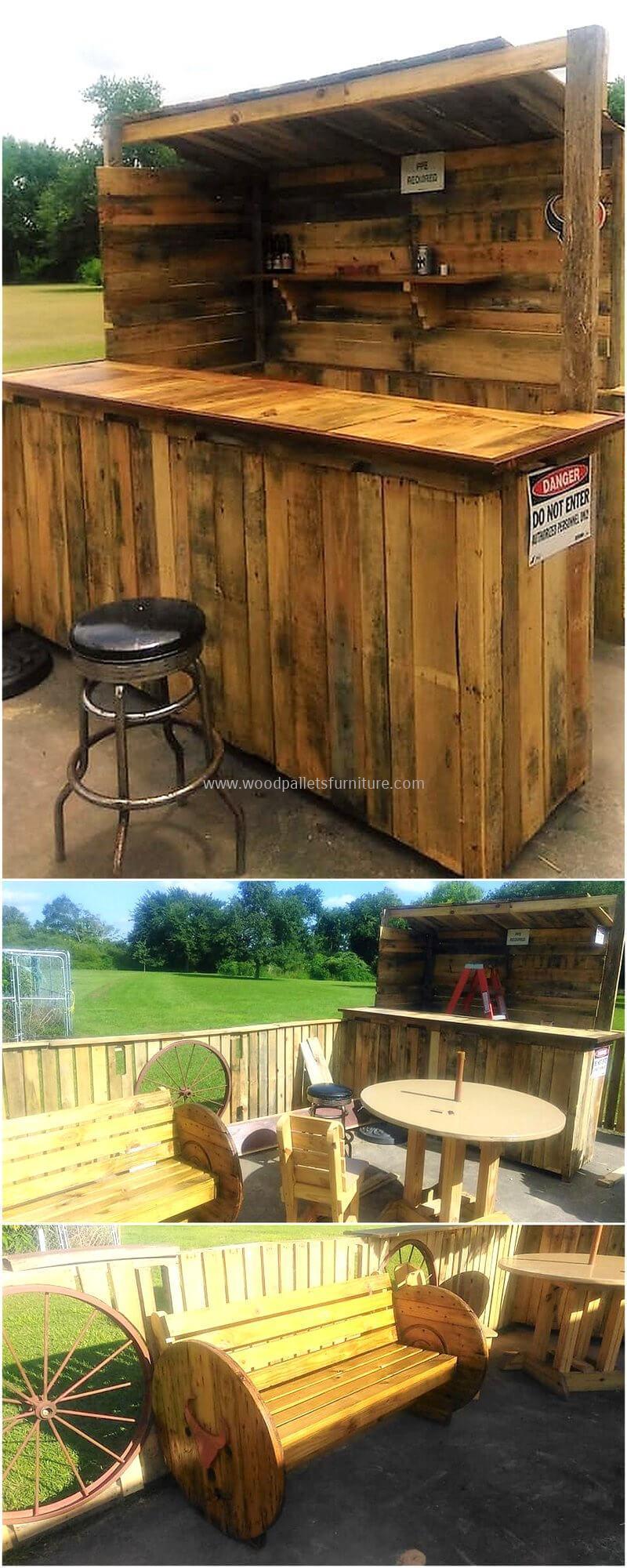 wood pallet bar plan 297