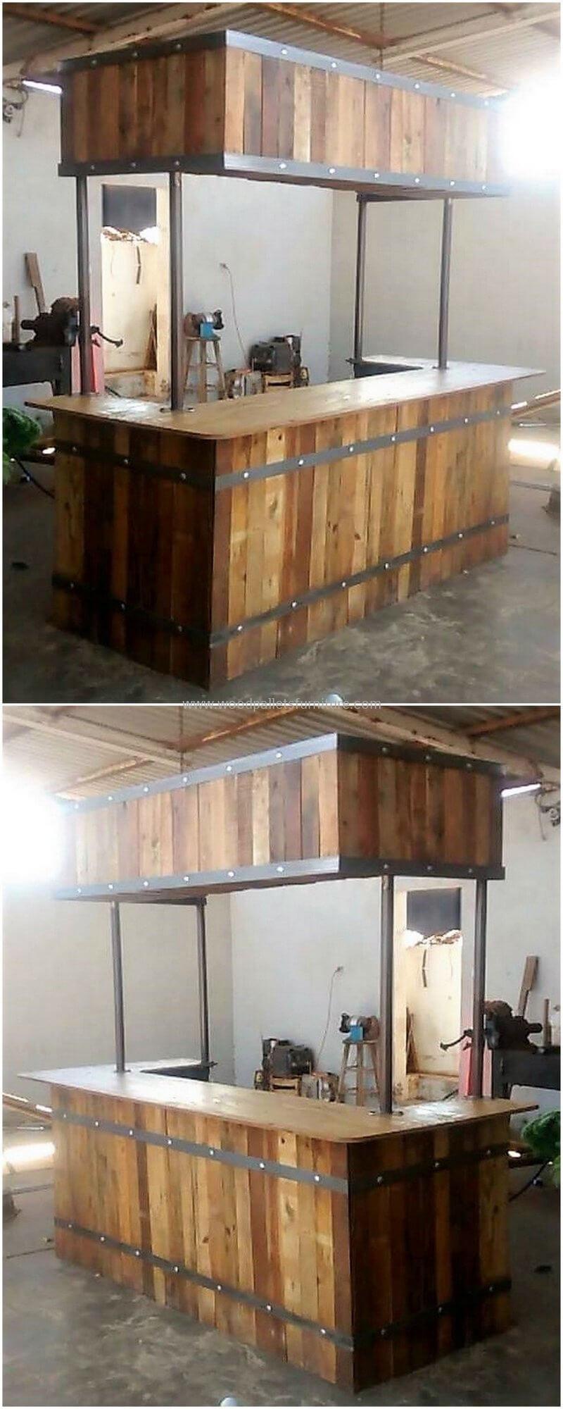 wood pallet bar plan 301