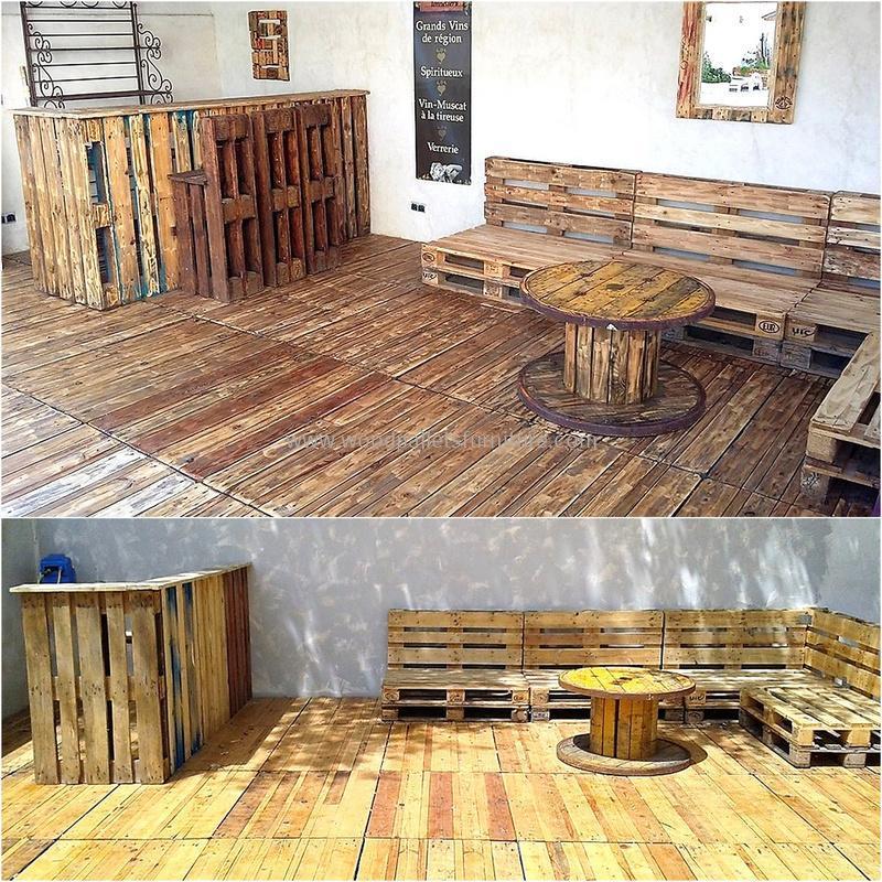 wood pallet bar plan 305