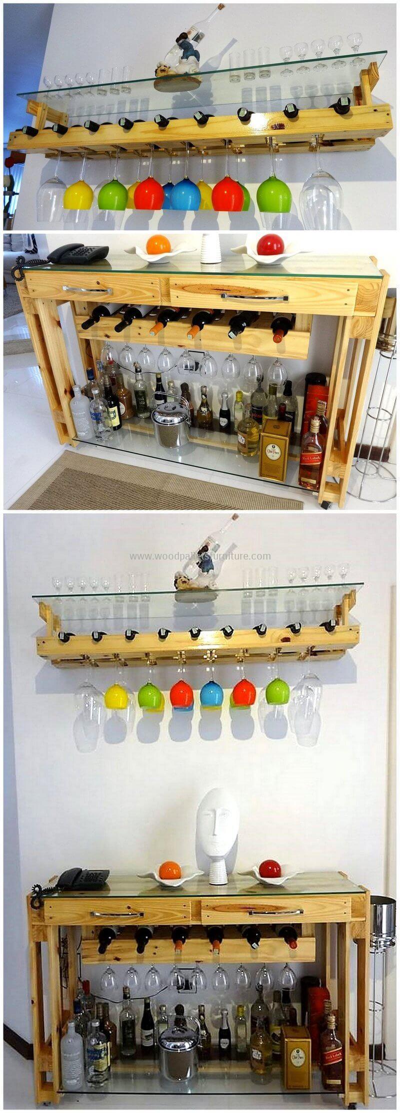 wood pallet bar plan 45