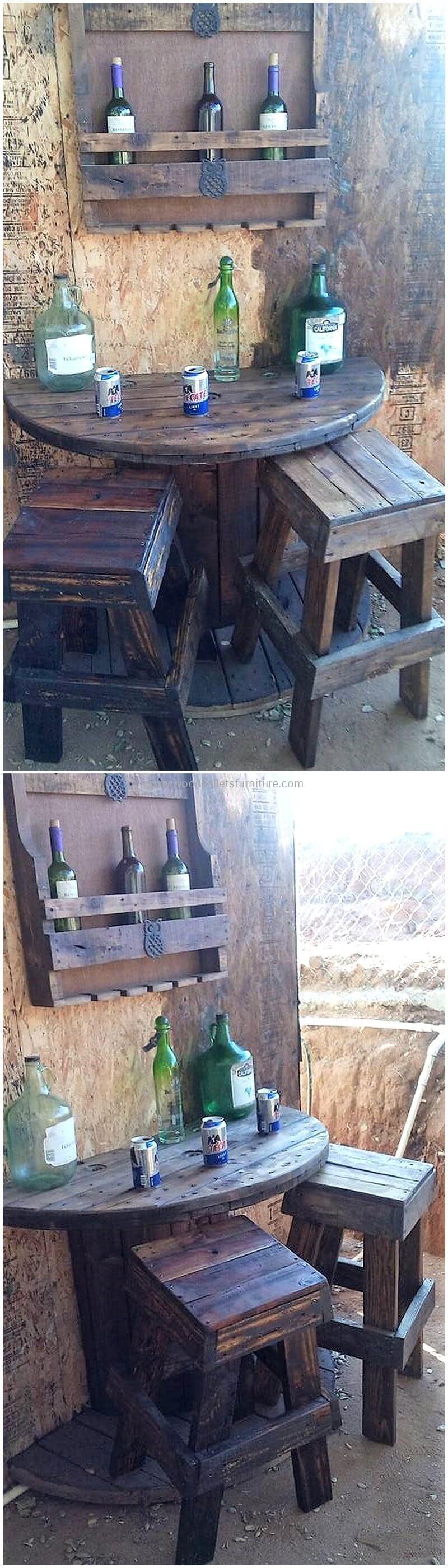 wood pallet bar plan 75