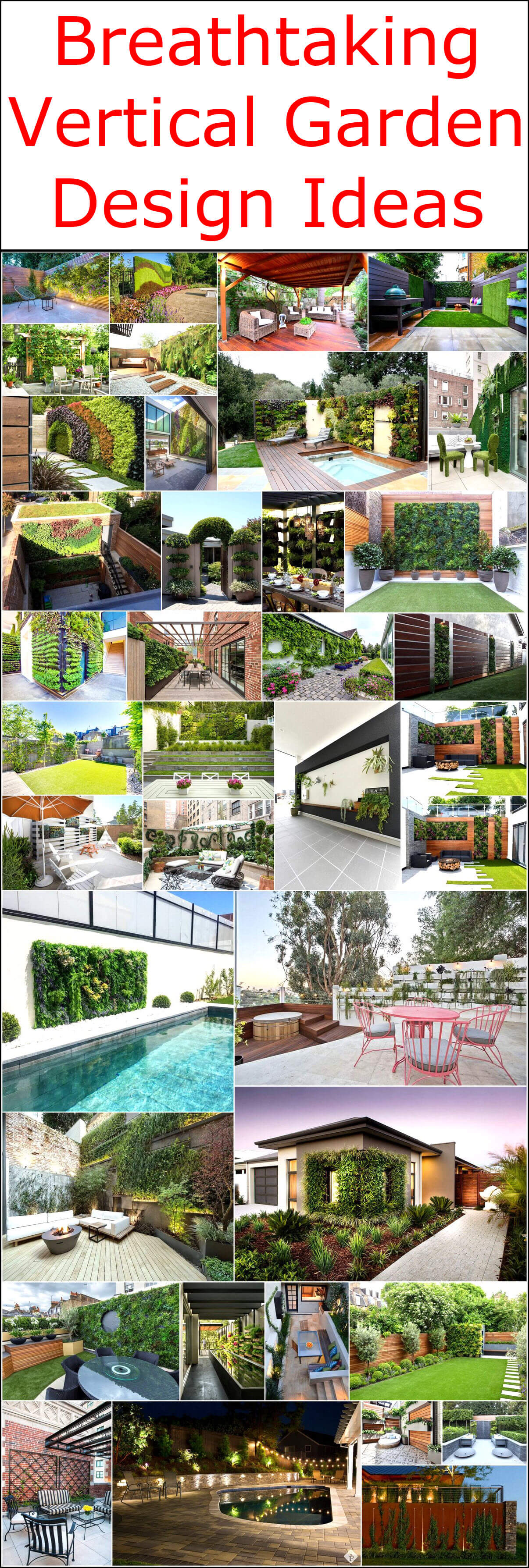 Breathtaking Vertical Garden Design Ideas