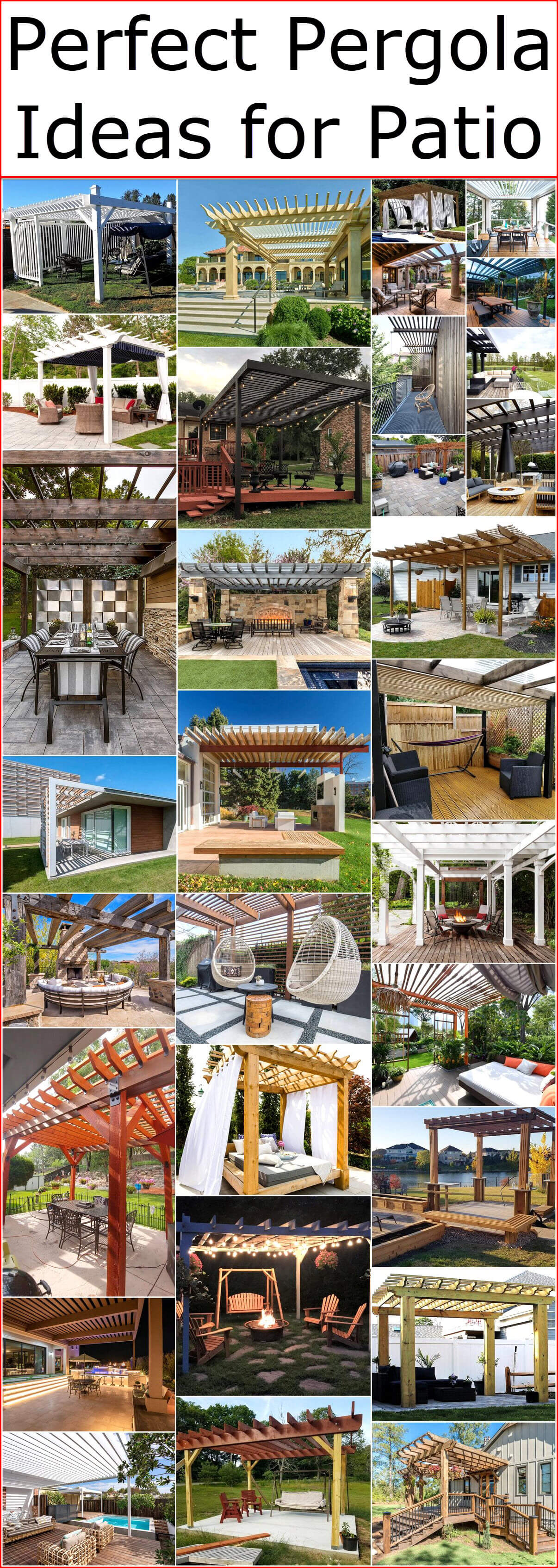 Perfect Pergola Ideas for Patio