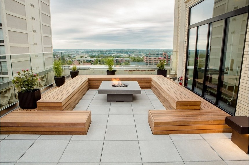 Rooftop Deck With A Fire Pit Ideas Inspirationalz Inspirationalz