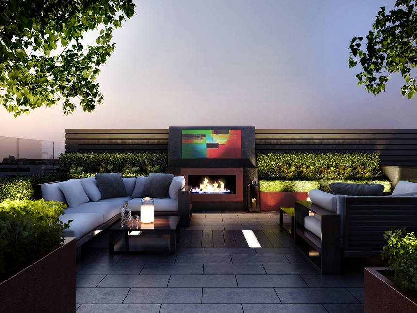 Rooftop Deck with a Fire Pit (20)