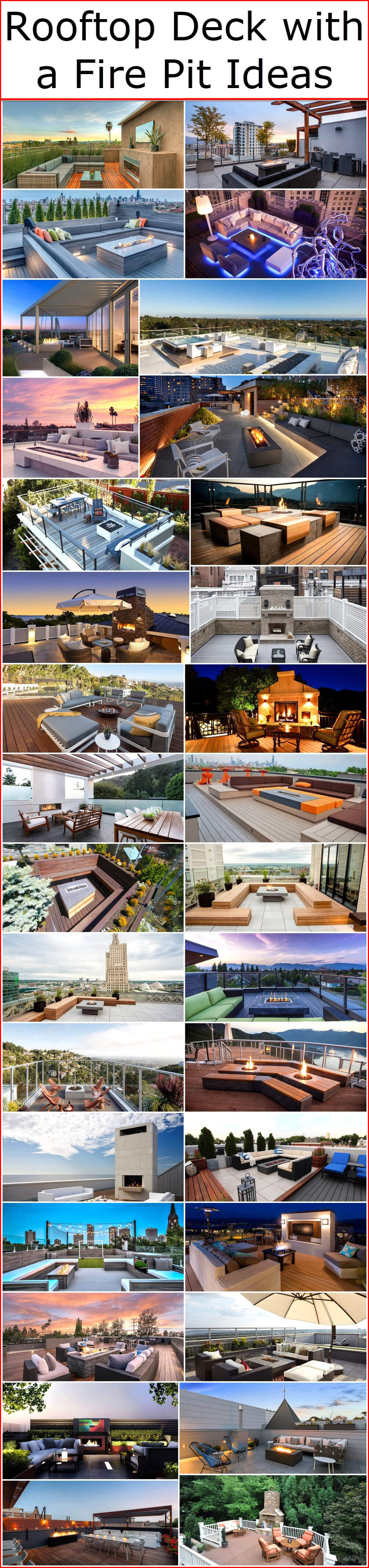 Rooftop Deck with a Fire Pit Ideas