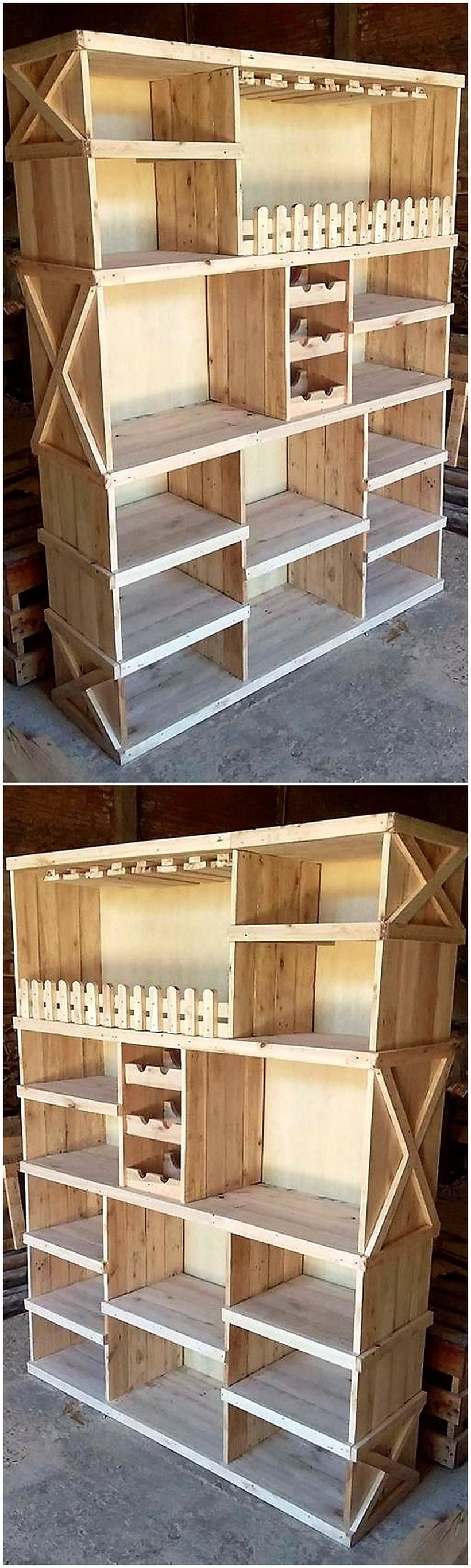 old pallet cupboard