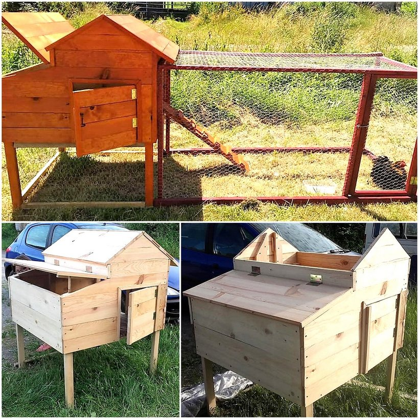 pallet chicken coop plan