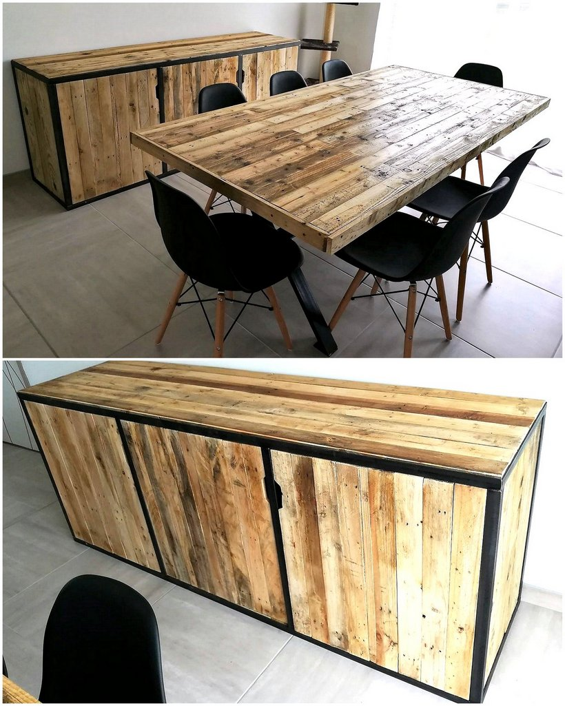 pallet dining and entrance tables