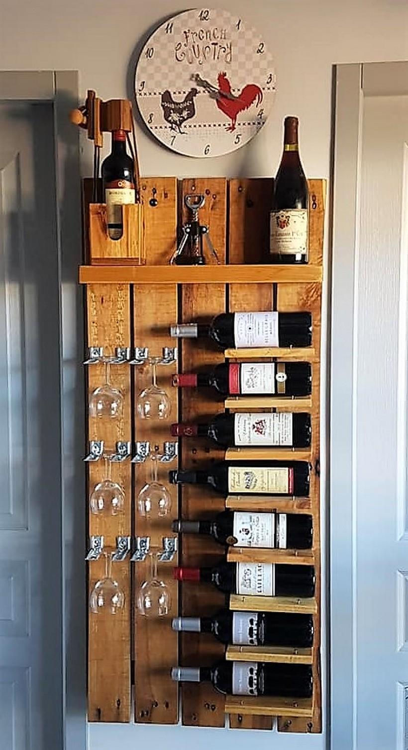 pallet wall bar plan
