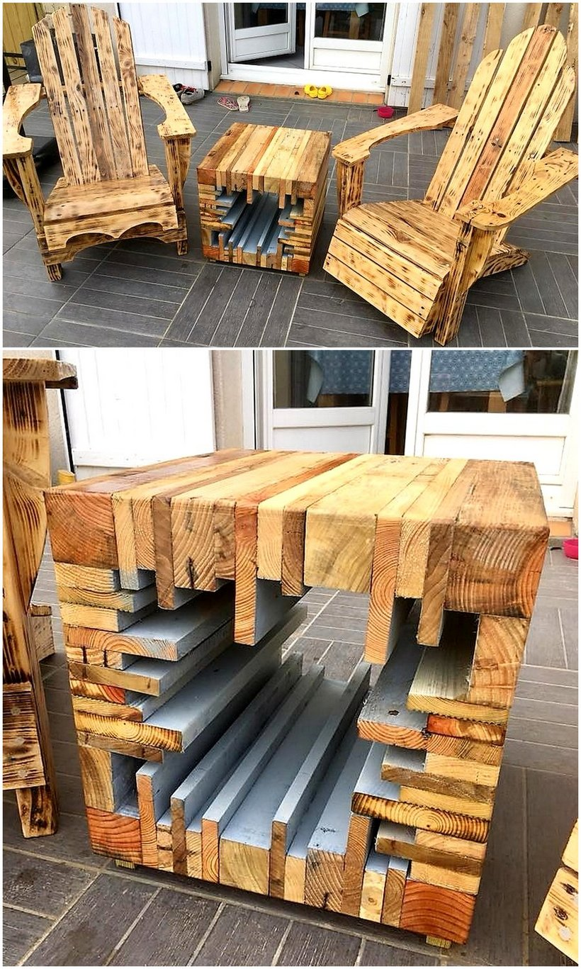 pallets wooden furniture idea