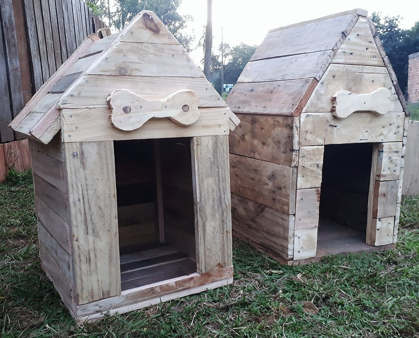 recycled pallets dog houses