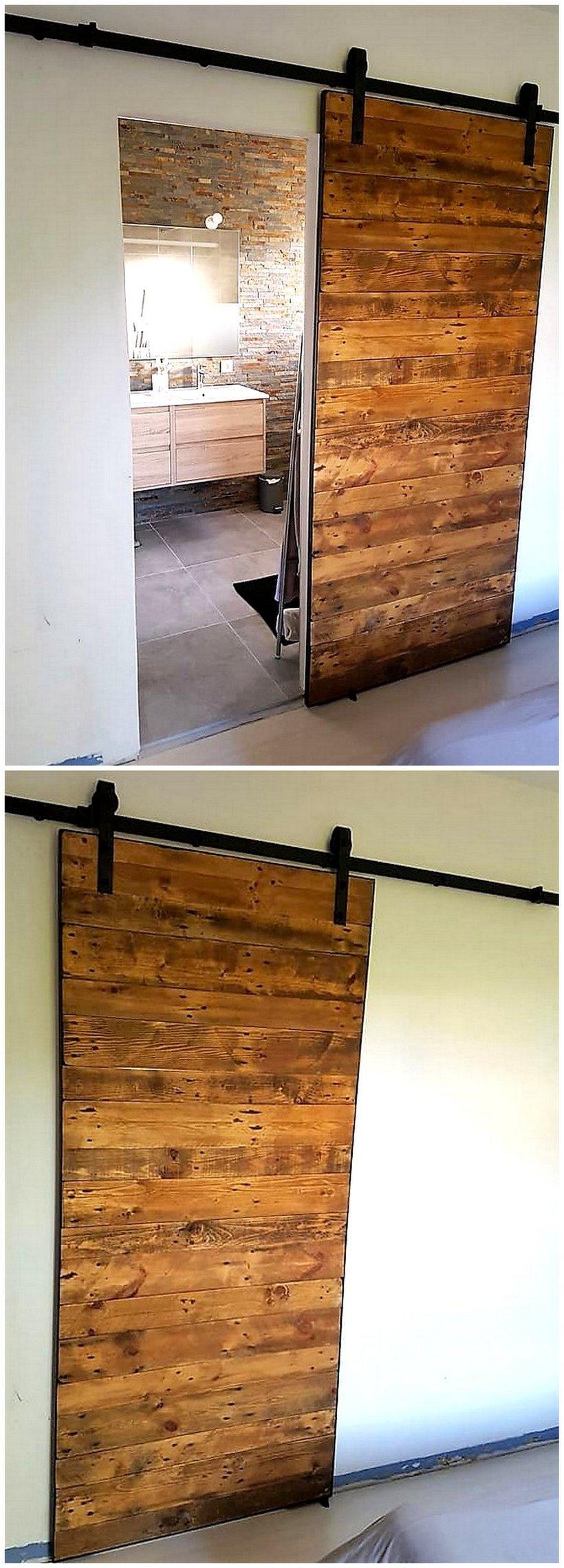 wood pallets sliding door