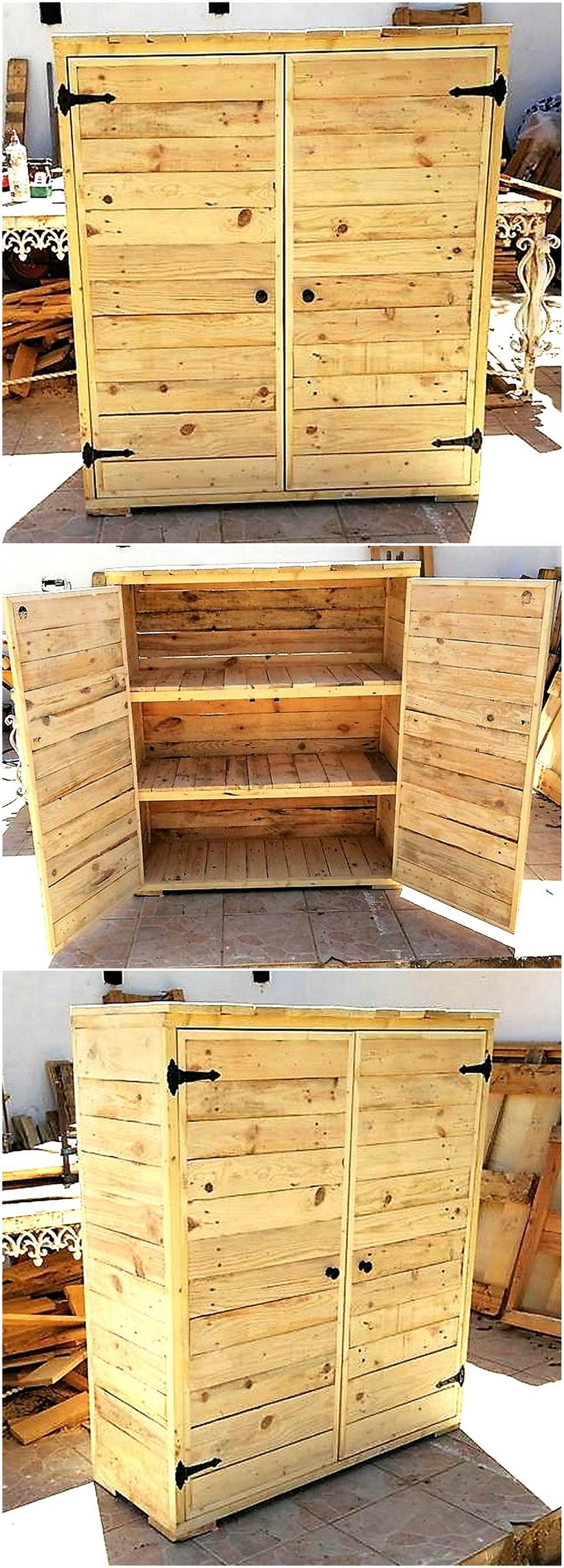 wooden pallet clsoet idea