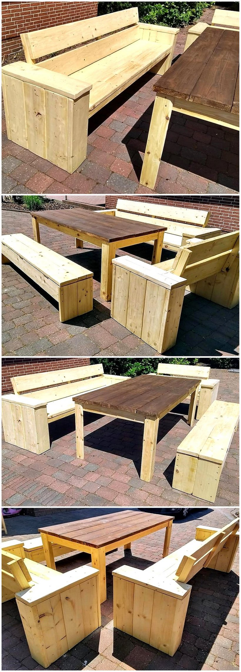 wooden pallet outdoor furniture set
